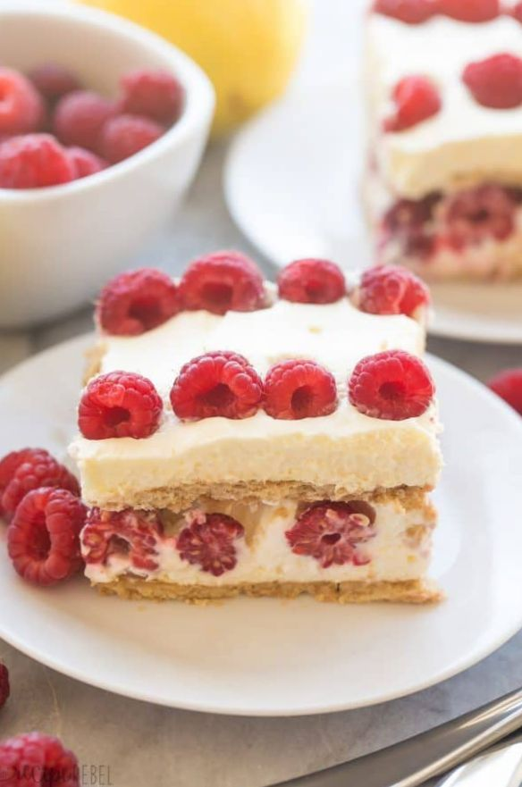 No Count Lemon and Raspberry Cakes