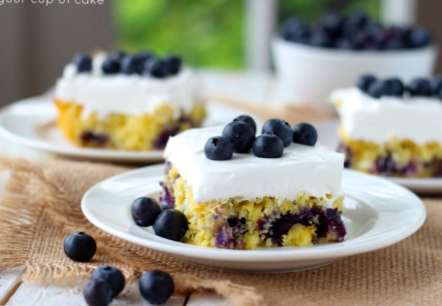 Pineapple and Blueberry Cakes