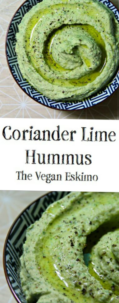 Vegan Coriander and Lime Hummus
