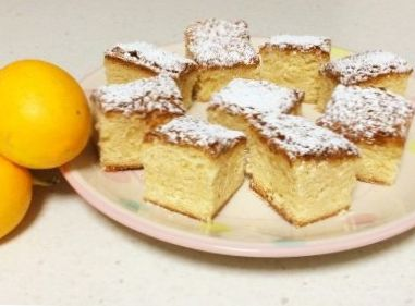 White Chocolate, Lemon and Coconut Blondies